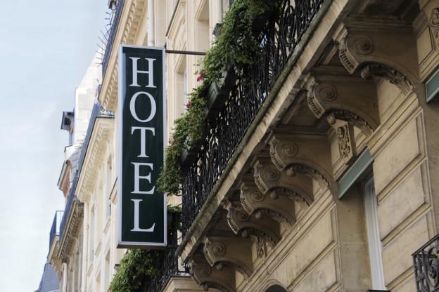Parisian hotel sign